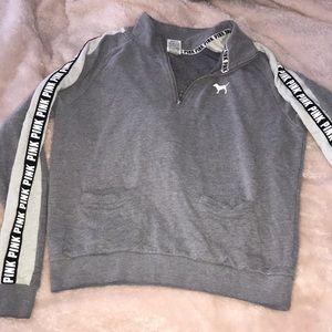 Victoria Secret PINK half zip sweatshirt. EUC